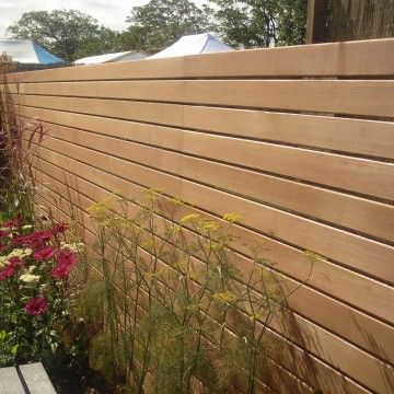 Contempory Fence Idea From Chelsea Flower Show Fence Design