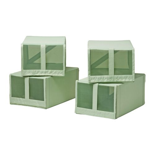 SKUBB Scatola per scarpe - verde chiaro - IKEA
