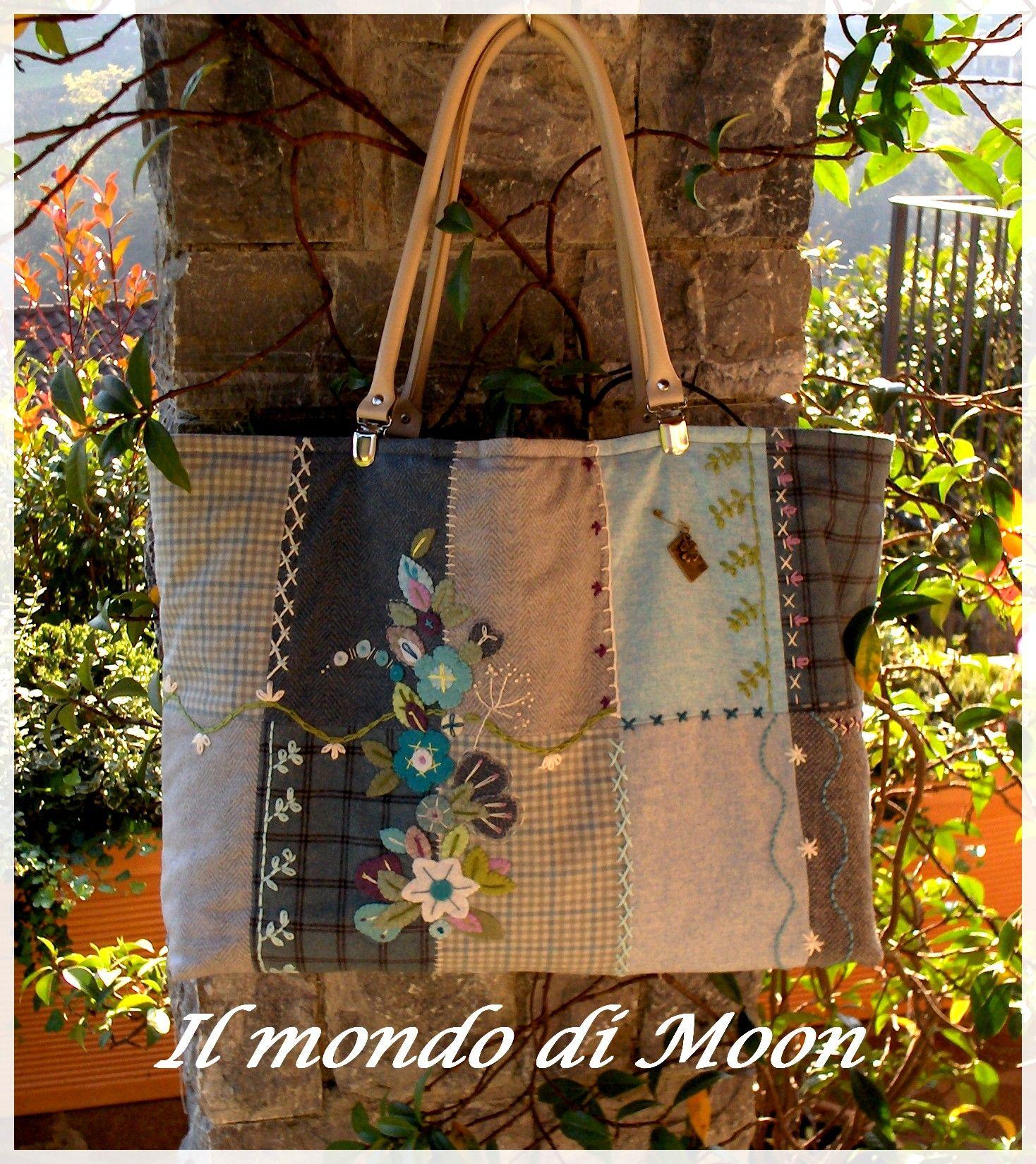 Crazy patchwork bag
