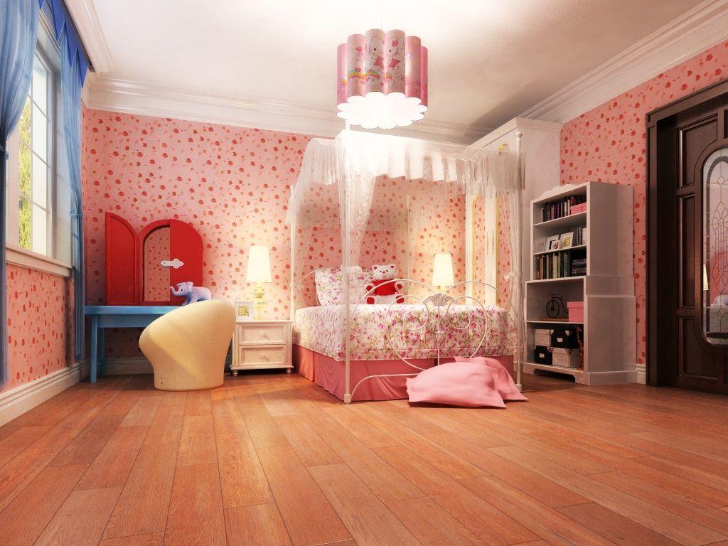 Imagen de pisos y azulejos de rec maras cuartos para for Cuartos para ninas decoracion