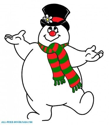 snowman clipart  Go Back  Gallery For  Frosty The Snowman