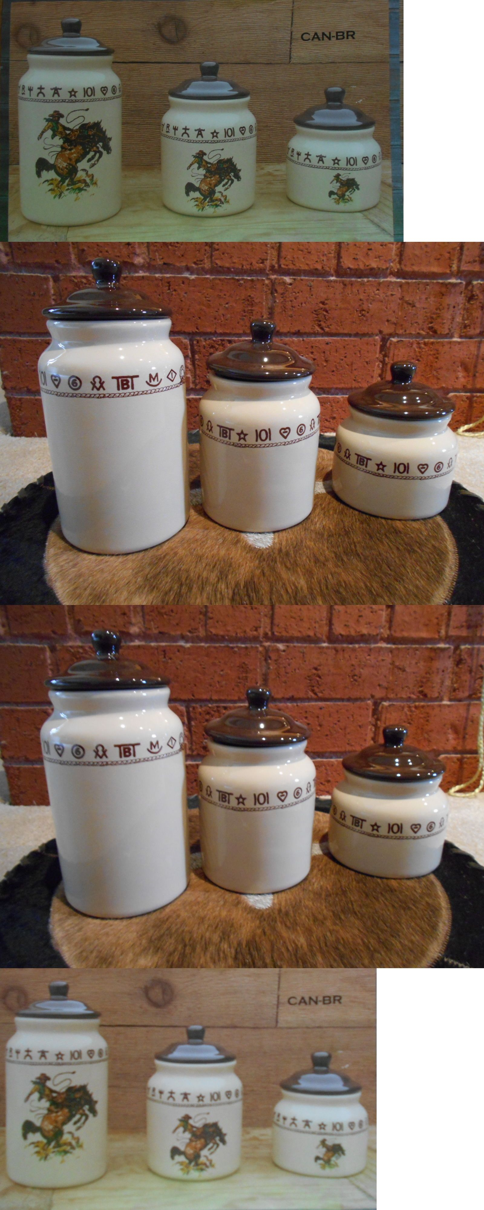 Other Equestrian 1048: Western Canister Set Branded Design Western Dishes Western  Kitchen Rodeo  U003e