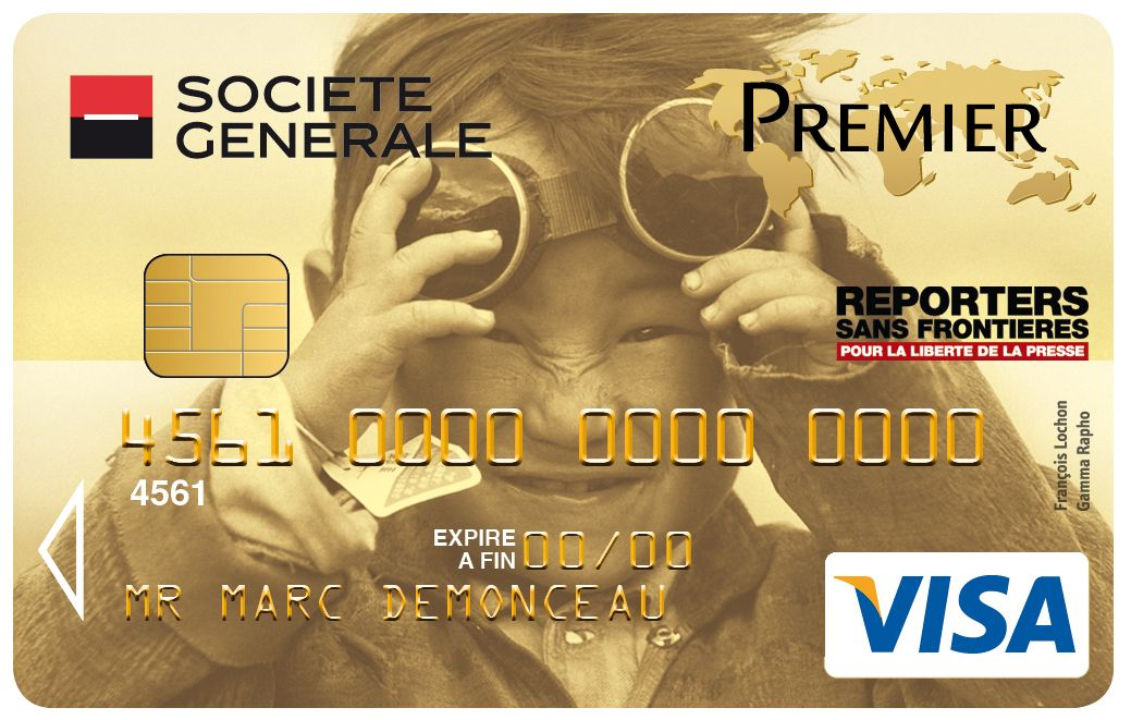 Carte Visa Premier Societe Generale Reporters Sans Frontieres