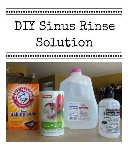 Diy Nasal Sinus Rinse Solution Sinusitis Nasal Wash Recipe Sinus Rinse Recipe