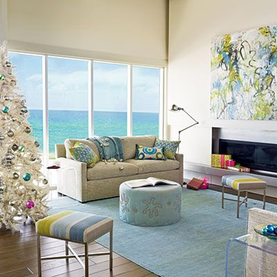 Beach Themed Living Room Design Entrancing 38 Easy Holiday Decorating Ideas  Holidays Modern And Artificial Design Decoration