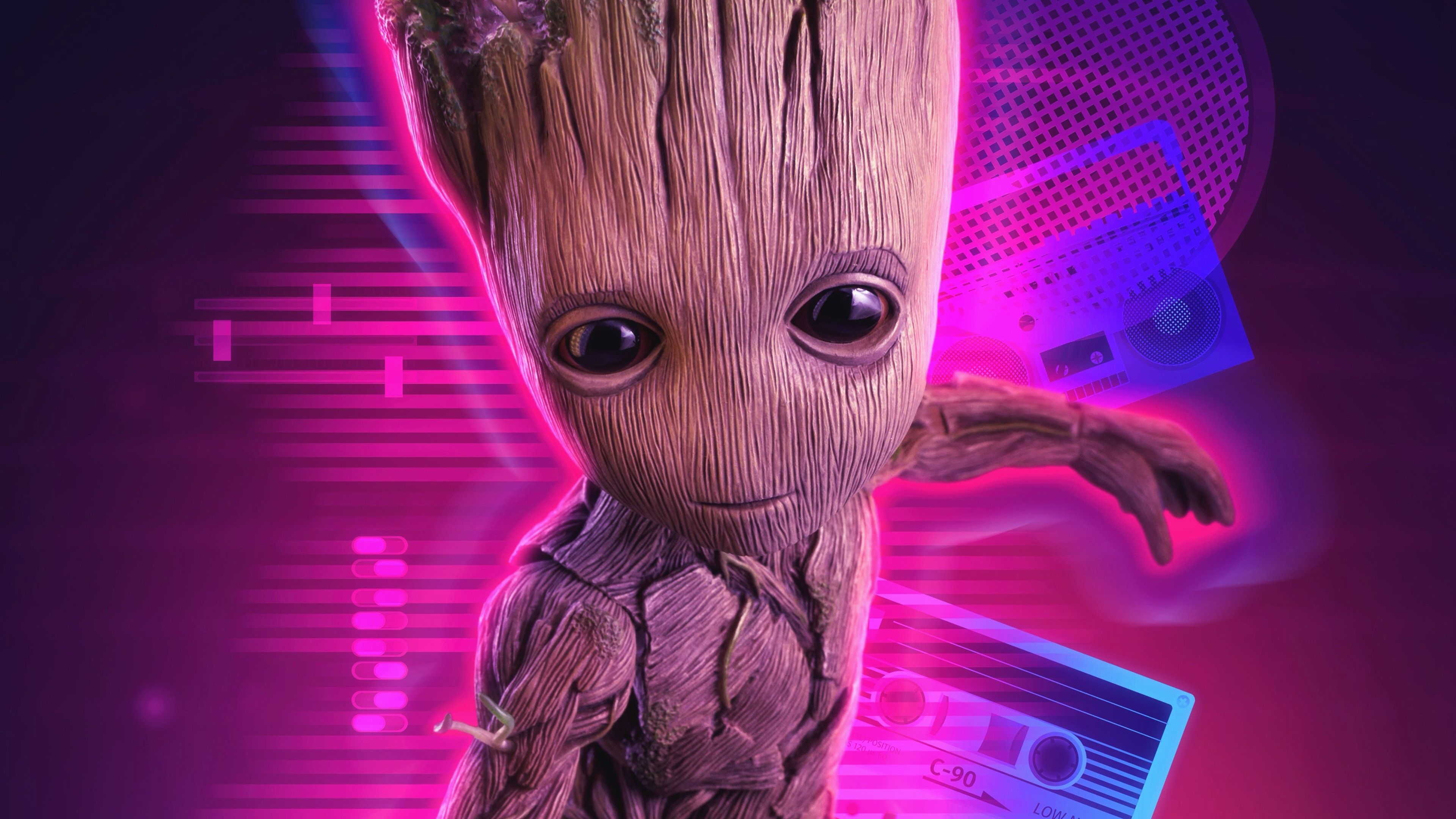 Elegant Baby Groot Angry With Images Wallpaper Pc 4k
