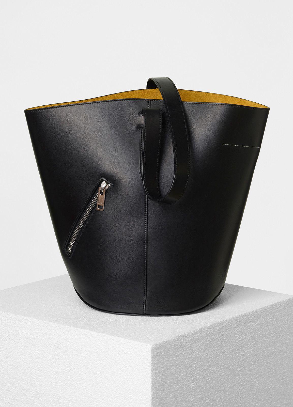 330c8c72b6e5 Bucket Biker Shoulder Bag in Natural Calfskin - Céline
