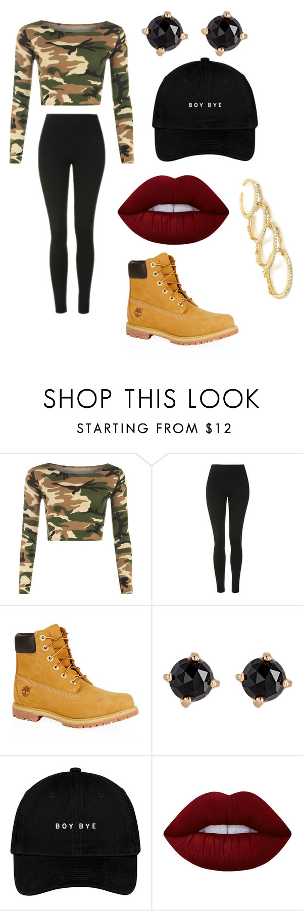 """Untitled #200"" by chaniyanesbitt ❤ liked on Polyvore featuring WearAll, Topshop, Timberland, Irene Neuwirth, Lime Crime and Fallon"