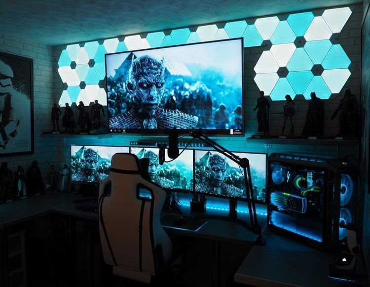 Learn how different decorating elements work together to create a beautiful (and functional!) space. Loading... | Video game rooms, Gaming room setup, Video ...
