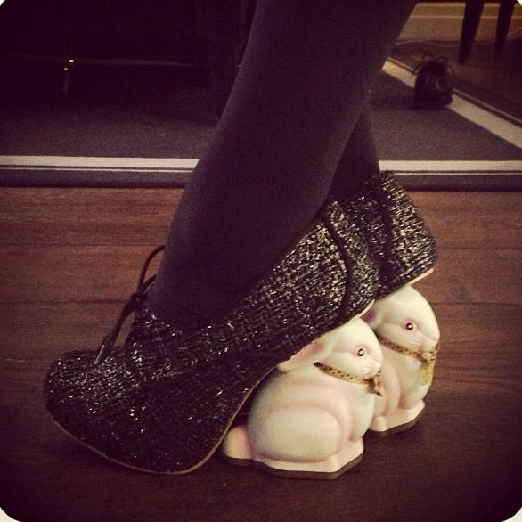 Bunny Heels Omg Kat Von D Has The Greatest Shoe Collection Cute Shoes Rustic Boots Crazy Shoes