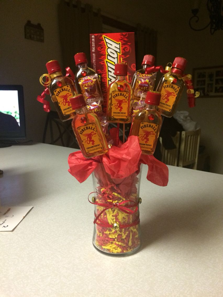 Fireball Bouquet I Made For Beccas B Day Projects