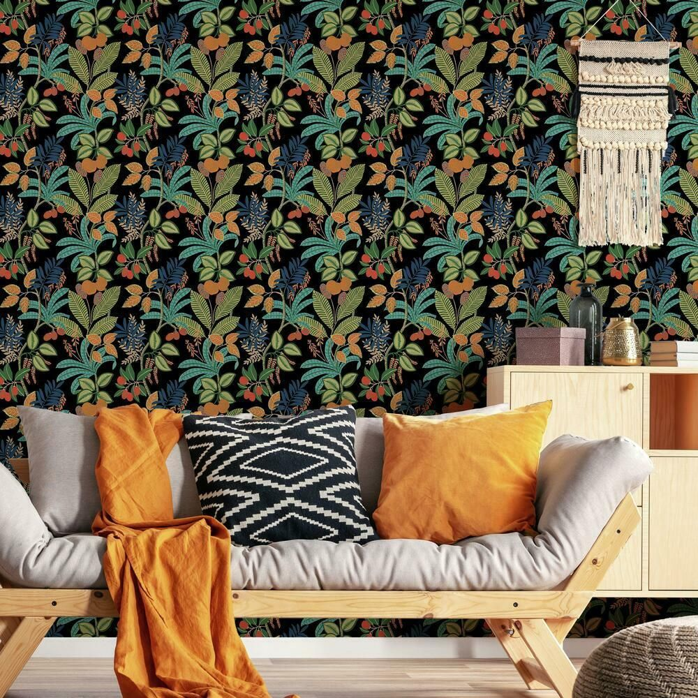 Funky Jungle Peel And Stick Wallpaper Peel And Stick Wallpaper Wall Coverings Wallpaper Roll
