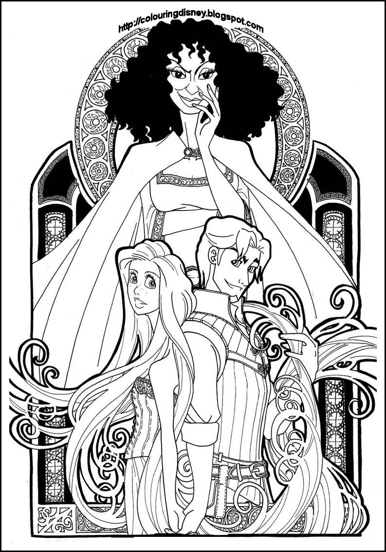 princess coloring pages disney rapunzel coloring page story