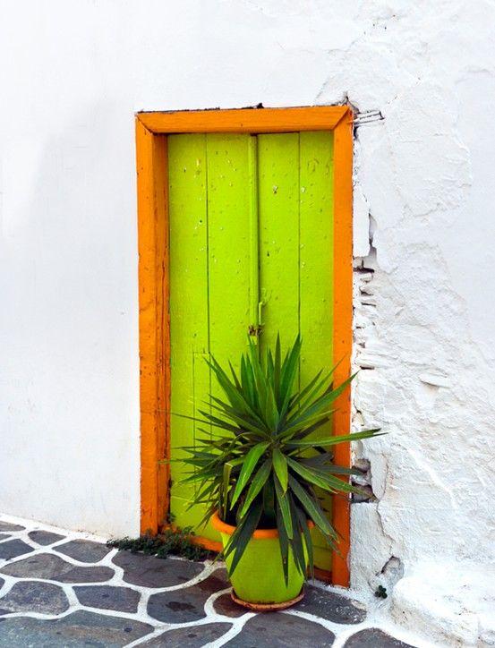 Kythnos Cycladic Green Door
