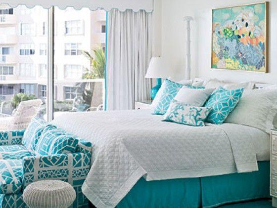 50 Shades of Aqua Home Decor | Aqua bedrooms, Aqua and Bedrooms