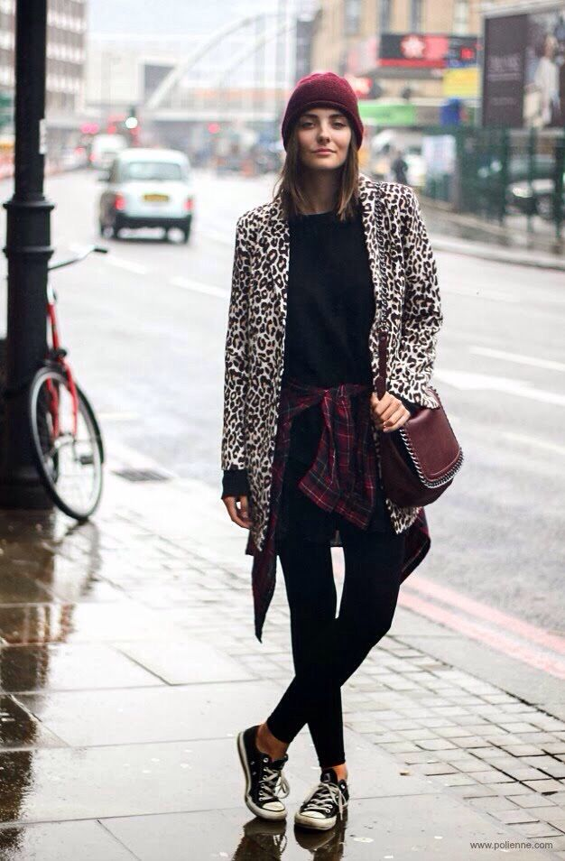 748c1cb0e9 50 Winter Outfits with Leopard
