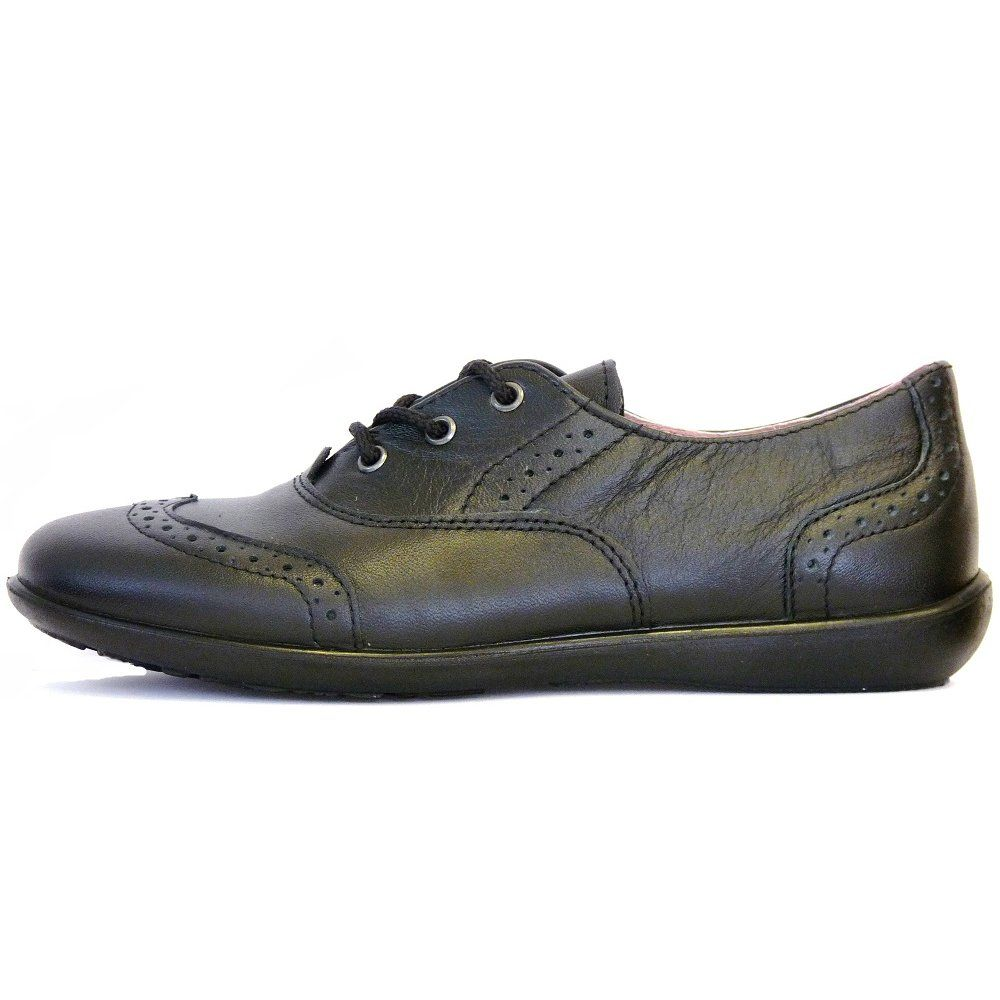 Black Leather School Shoes Girls
