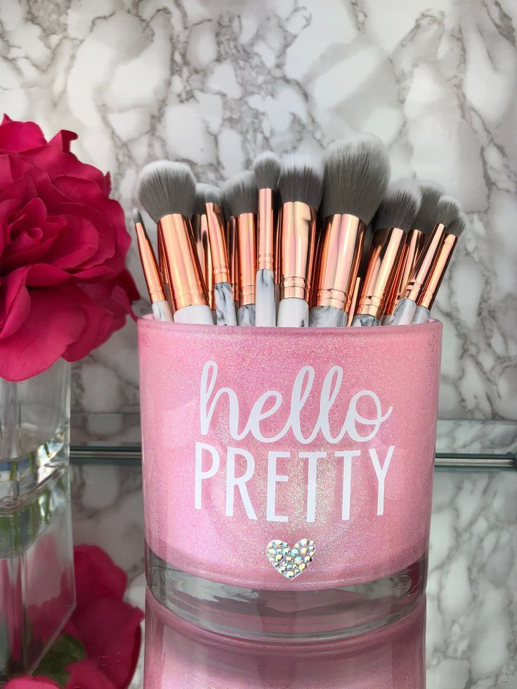 Large Makeup Brush Holder, Makeup Artist Gift, Girly Decoration, Makeup lover, Makeup Vanity decor, Makeup Artist, Makeup Brush Holder images