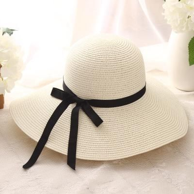 dff603736 summer straw hat women big wide brim beach hat sun hat foldable sun ...