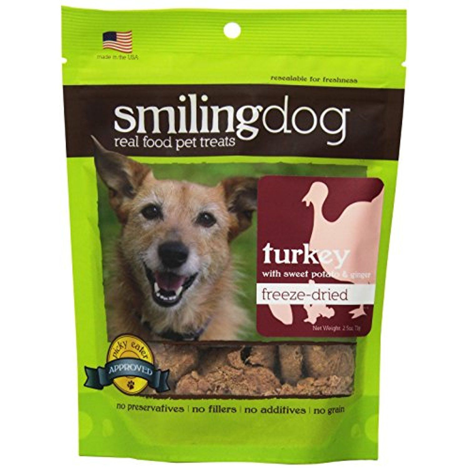 Herbsmith Smiling Dog Freeze Dried Turkey with Sweet