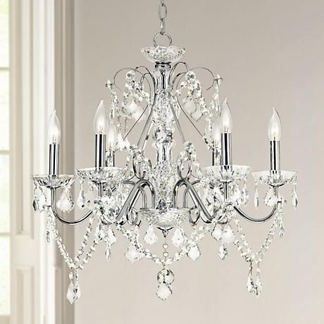 Vienna Full Spectrum 23 12 W Chrome and Crystal Chandelier – Vienna Full Spectrum Crystal Chandelier