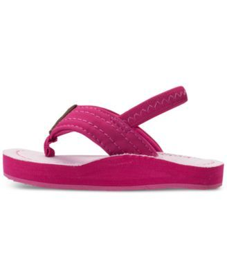 d623c5350f88 Polo Ralph Lauren Toddler Girls  Theo Flip-Flop Sandals from Finish Line -  PINK BLUE CHAMBRAY 7