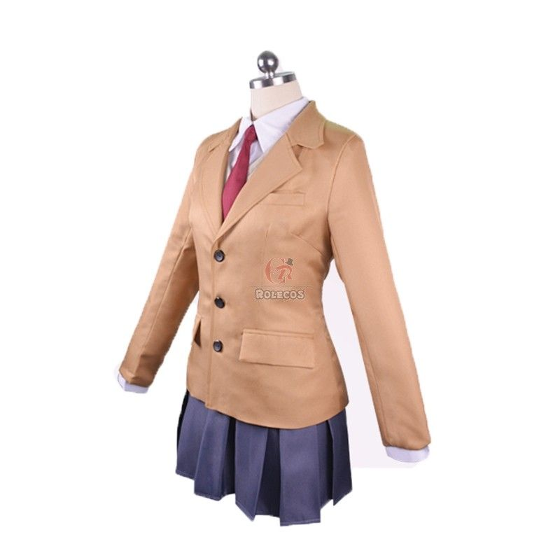 Sakurajima Mai Cosplay Outfit School Uniform Dress Cosplay Costume Full Set