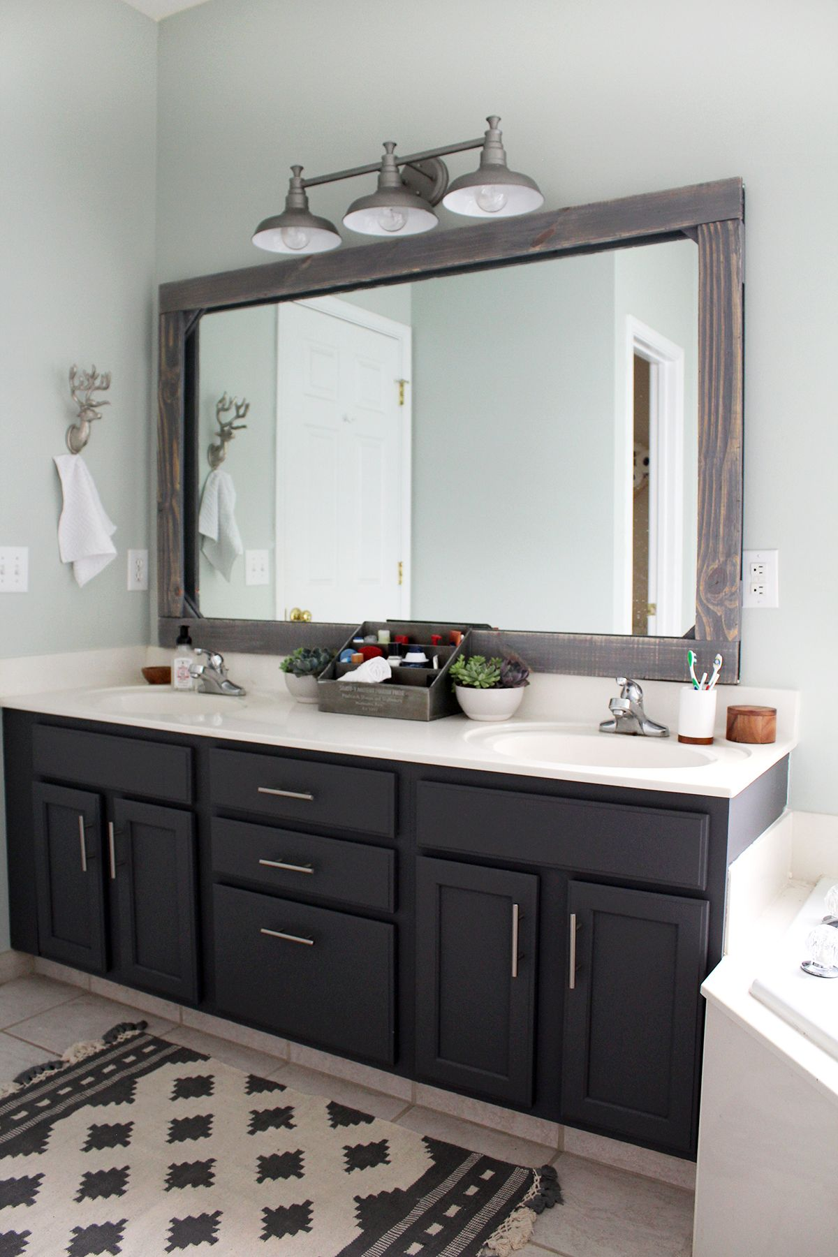 Master Bathroom Update On A 300 Budget Tag Tibby Design Remodel Mirror