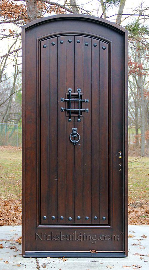 Rustic Arched Exterior Single Front Doors Puertas De Entrada