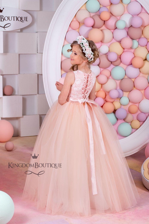 Blush Flower Girl Dress - Birthday Bridesmaid Holiday Wedding Party ...