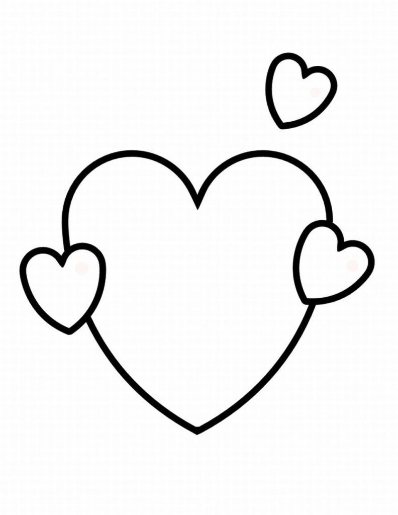 Valentine Heart Coloring Pages Shape Coloring Pages Heart