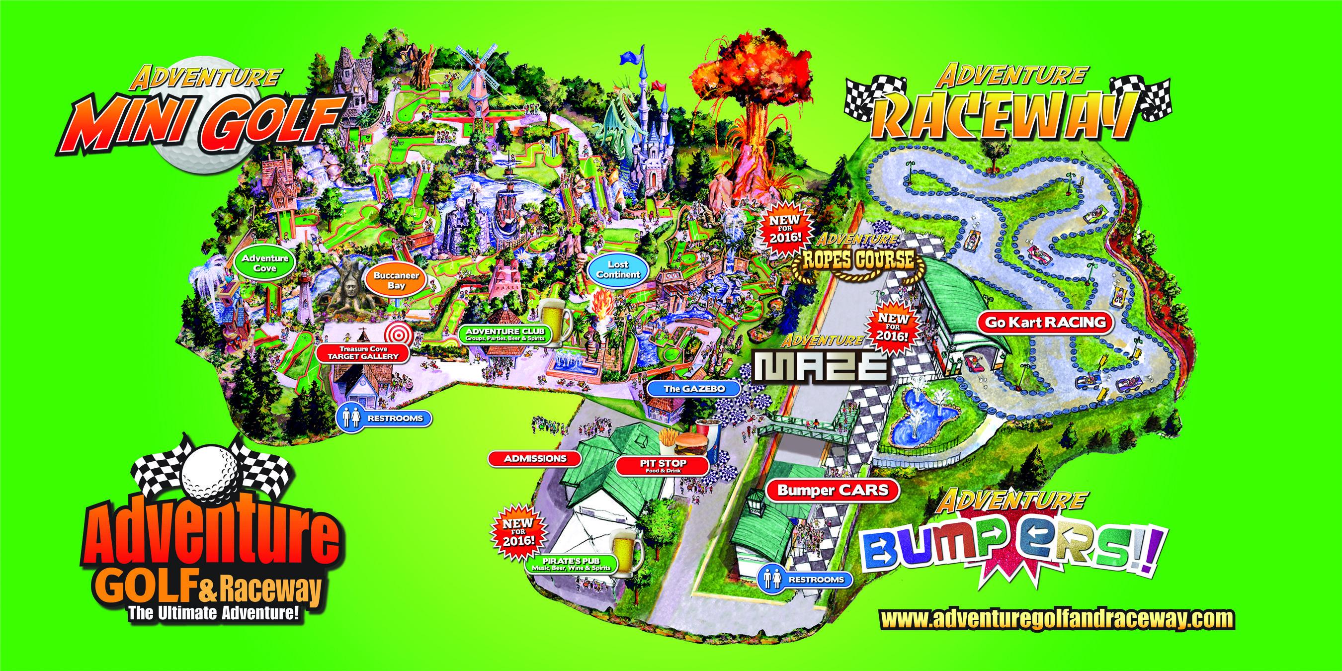 15+ Adventure golf and raceway hours info