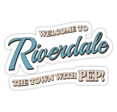 Riverdale Welcome To Riverdale Sticker By Badcatdesigns In 2021 Riverdale Print Stickers Aesthetic Stickers