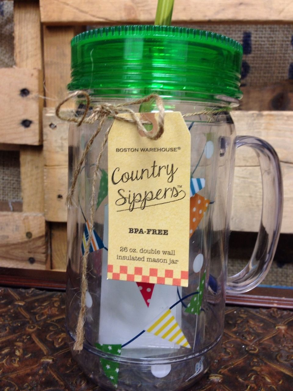 Showplace Market Country Sippers Flags 26oz
