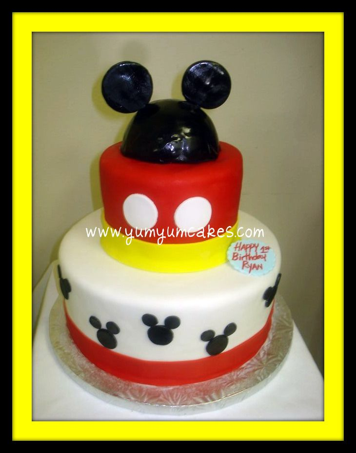Birthday Cake Pictures Of Mickey Mouse : Mickey & Minnie Mouse Cake/Cupcakes on Pinterest Minnie ...