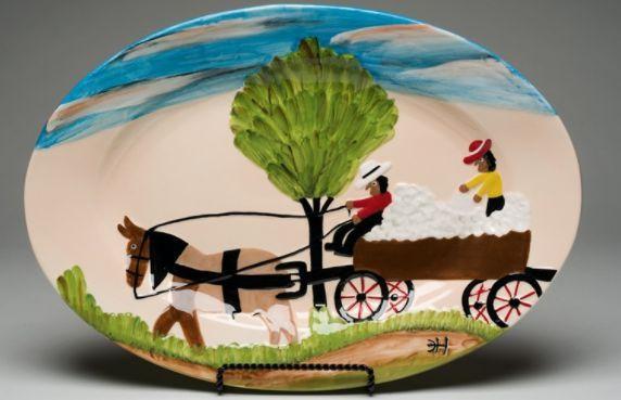 Cotton Wagon Platter