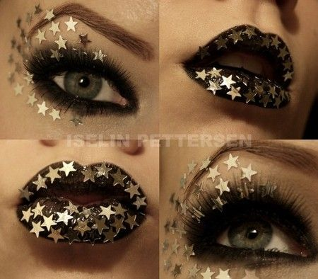 Star glitter makeup. Good for a night fairy or witch costume.