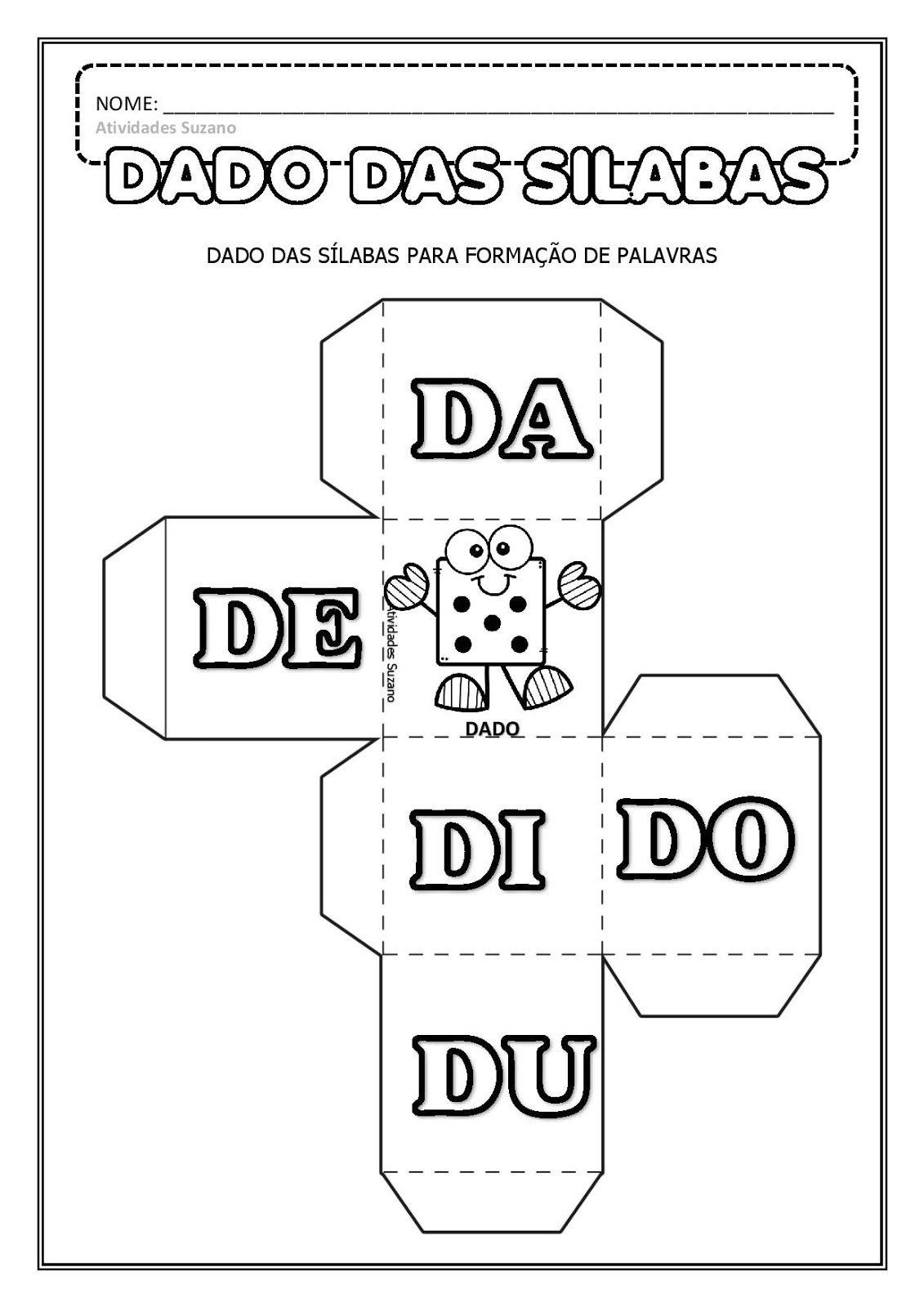 Dado Das Silabas Em Pdf Com Imagens Atividades Pedagogicas