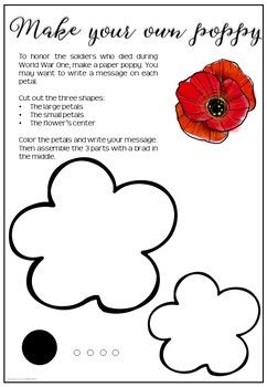 Remembrance Day Free Poppy Template #remembrancedaycraftsforkids