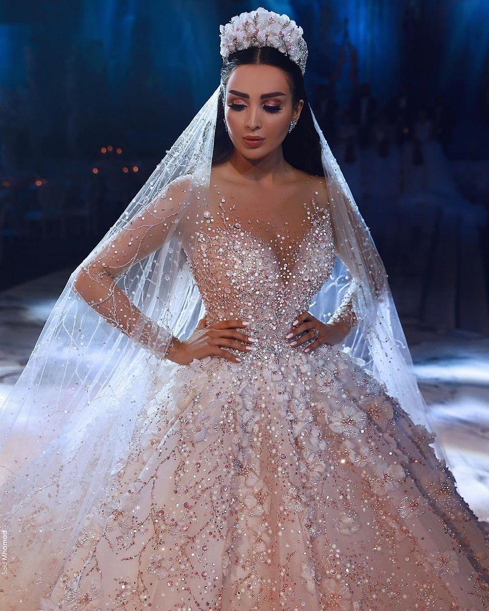 Luxus Brautkleider Mit Ärmel A Linie Spitze ...