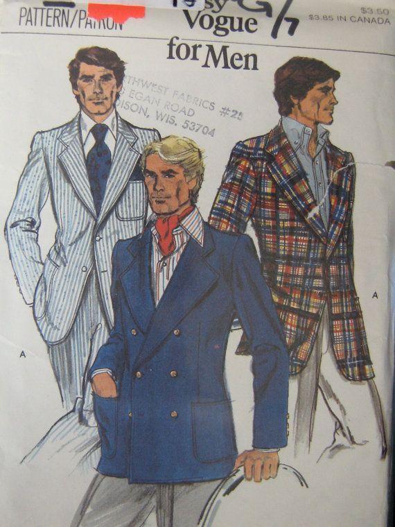 Men Suit Coat Sewing Patterns | 1970s Men\'s Suit Sewing Pattern ...