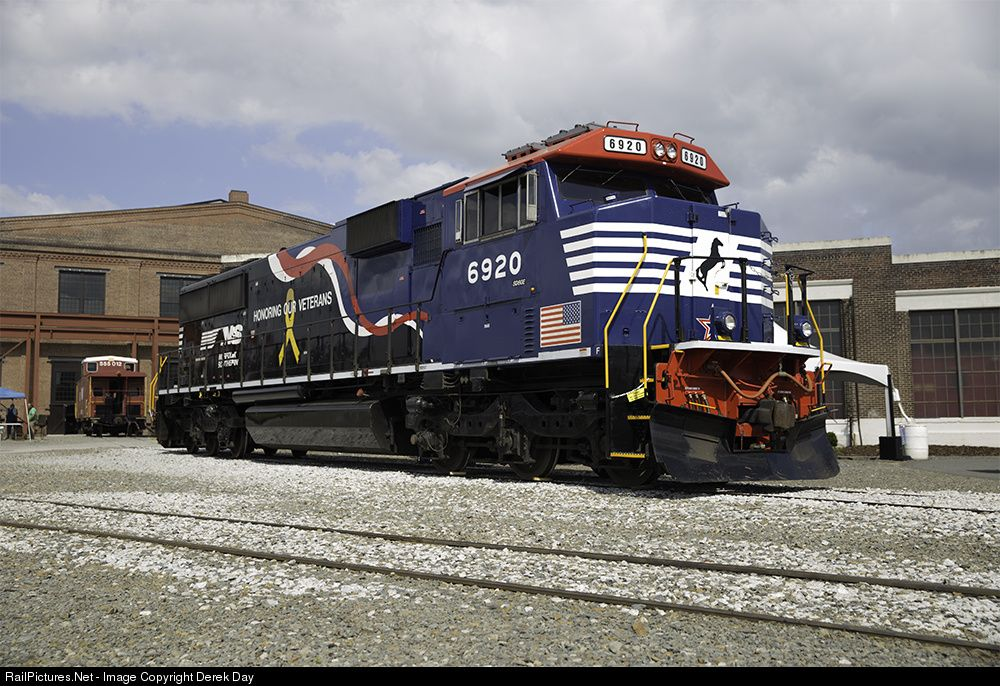 ns 6920 norfolk southern sd60e at spencer north carolina by derek day norfolk southern southern rail southern railways pinterest