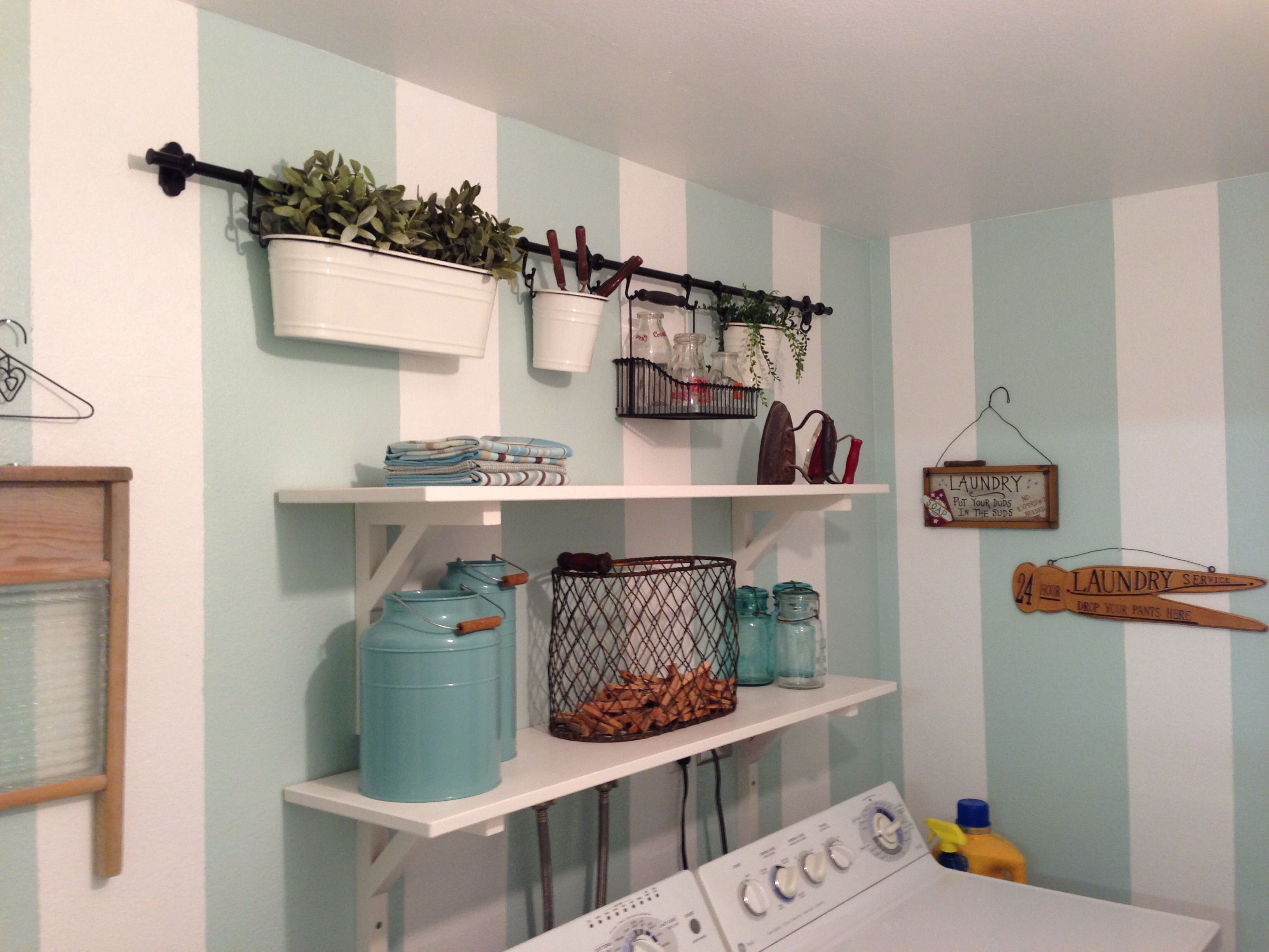 small laundry room makeover small room makeover ideas pinterest. Black Bedroom Furniture Sets. Home Design Ideas
