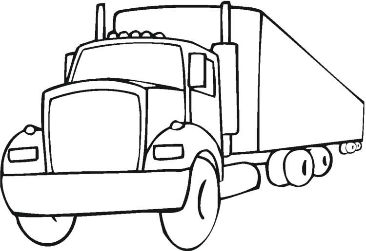 40 Free Printable Truck Coloring Pages Download With Images