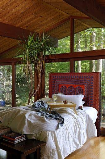 Make a headboard from a quilt