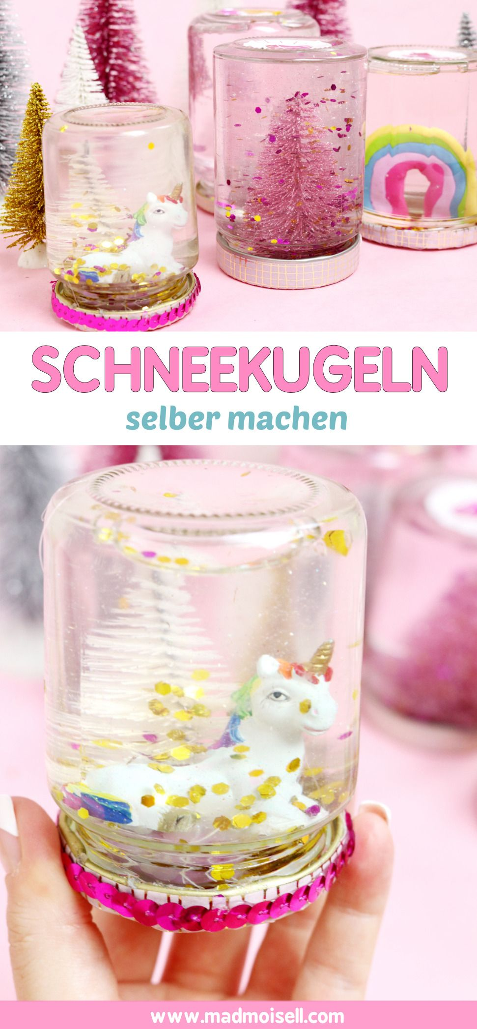 diy schneekugeln selber machen g nstiges geschenk f r weihnachten madmoisell diy projekte. Black Bedroom Furniture Sets. Home Design Ideas