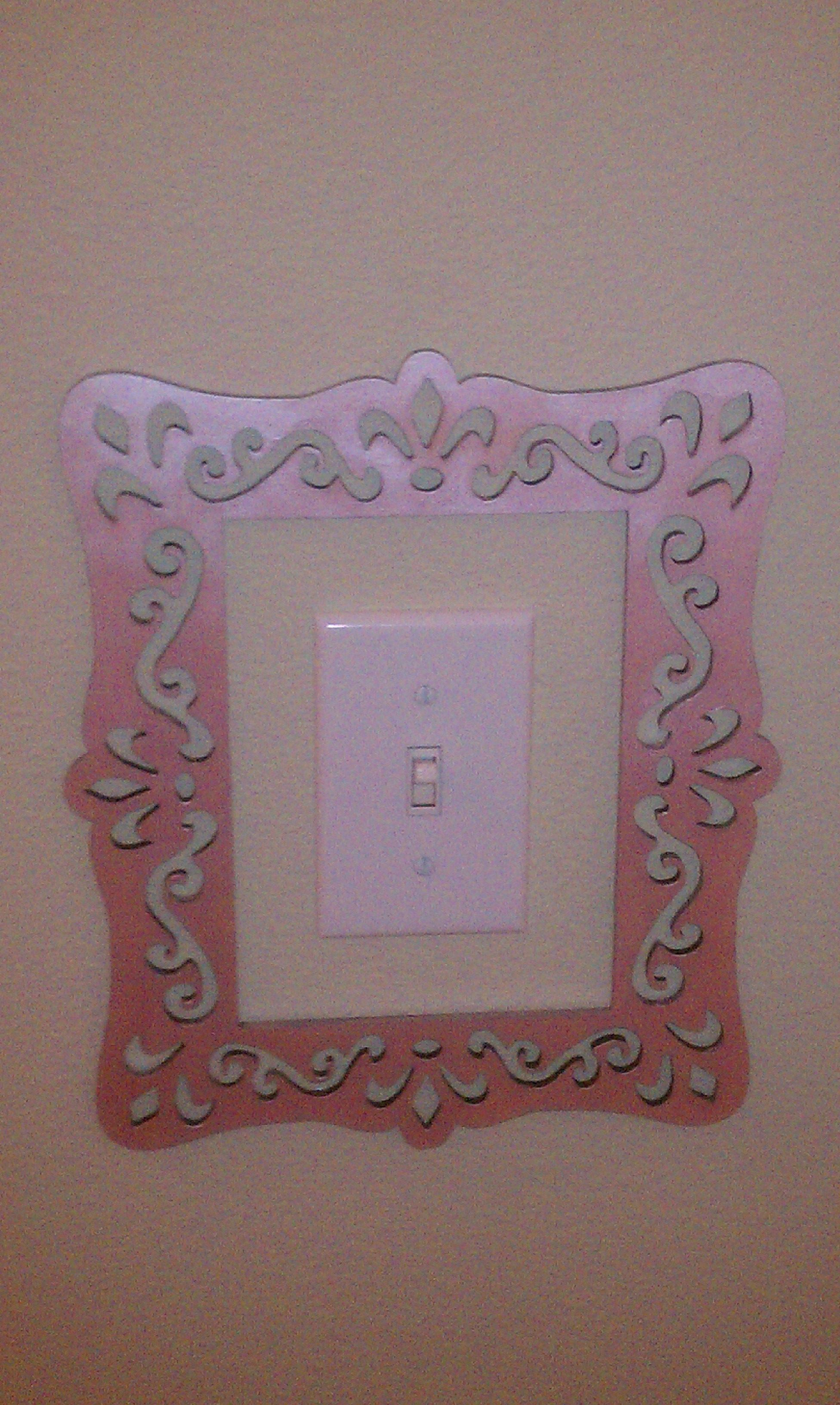 super cute and easy light switch frame laser cut unfinished wood frame from