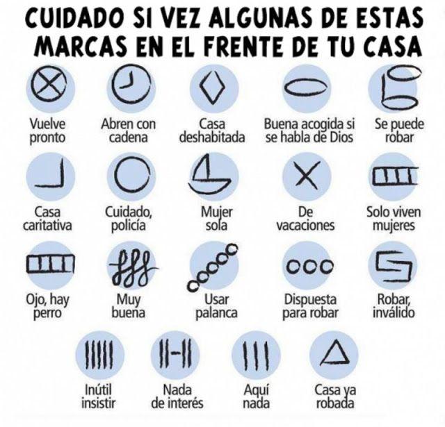 Resultado de imagen para ¡Alerta! Si ves alguno de estos símbolos pintado en tu casa, bórralo y llama a la policía!