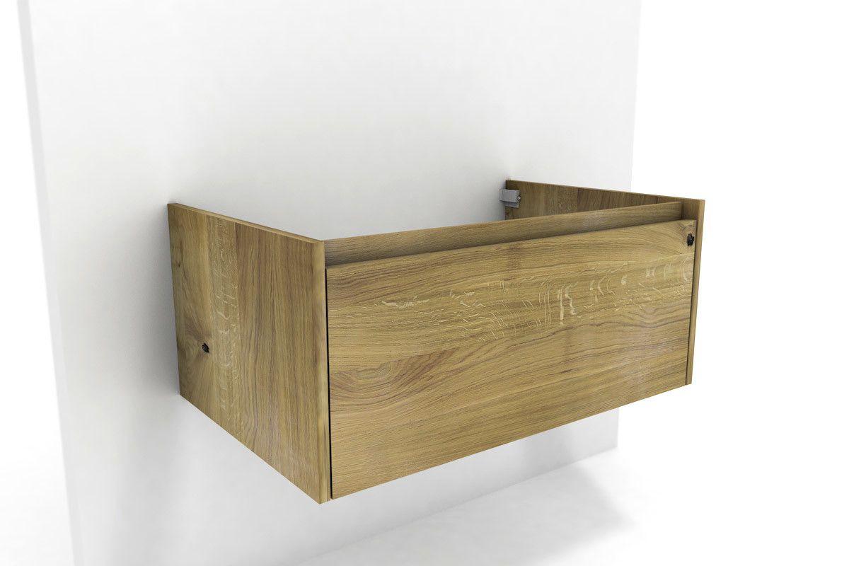 Waschbeckenunterschrank Holz Eiche Massiv Bend Mit Einem