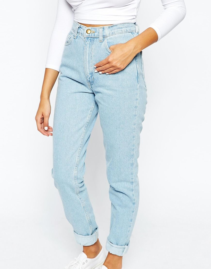 440eb57612cb5 Image 3 of American Apparel High Rise Mom Jeans